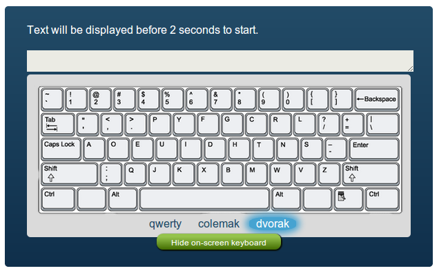 New layouts: Qwerty, Colemak, Dvorak